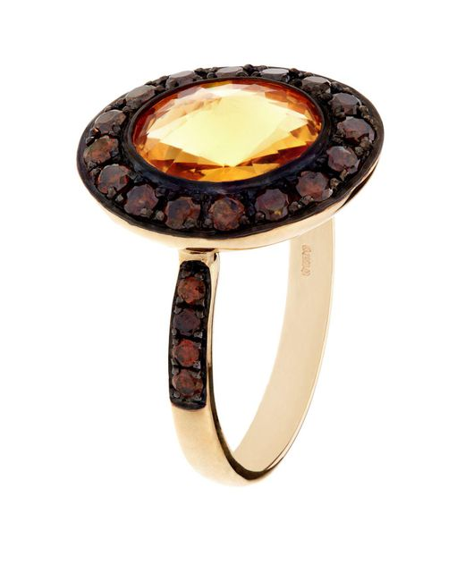 Annoushka - Yellow Dusty Diamonds Citrine Ring - Lyst