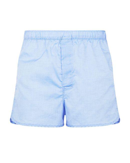 Derek Rose - Blue Dr Boxer Short Modern Fit Woven for Men - Lyst