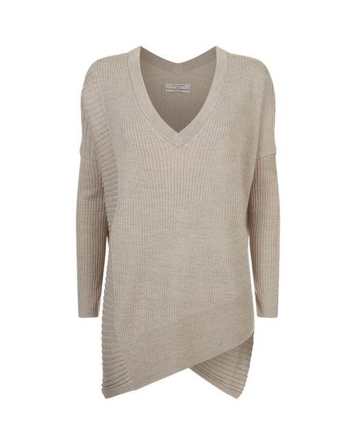 AllSaints - White Olivo V-neck Sweater - Lyst