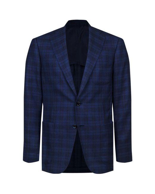 Stefano Ricci   Blue Checked Wool-silk Jacket for Men   Lyst