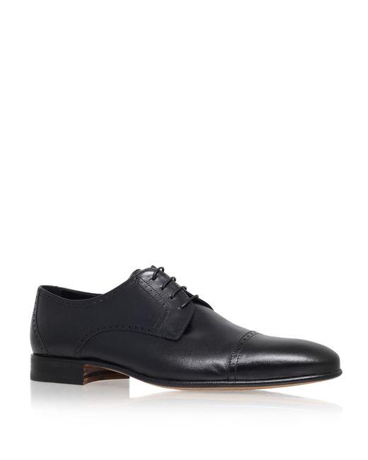 Stemar - Black Toe Cap Leather Derby for Men - Lyst