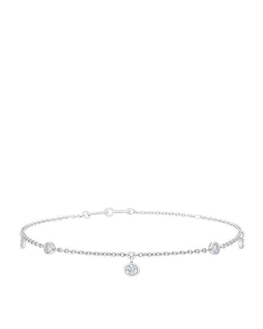 De Beers - Metallic My First White Gold Five Diamond Bracelet - Lyst
