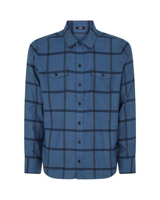 PAIGE - Blue Check Shirt for Men - Lyst