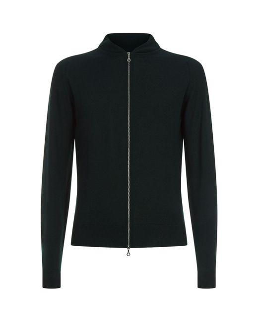 John Smedley - Green Merino Wool Sweater for Men - Lyst