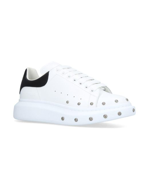 f680661e66f8 Lyst - Alexander McQueen Extended Sole Studded Sneakers in White for ...