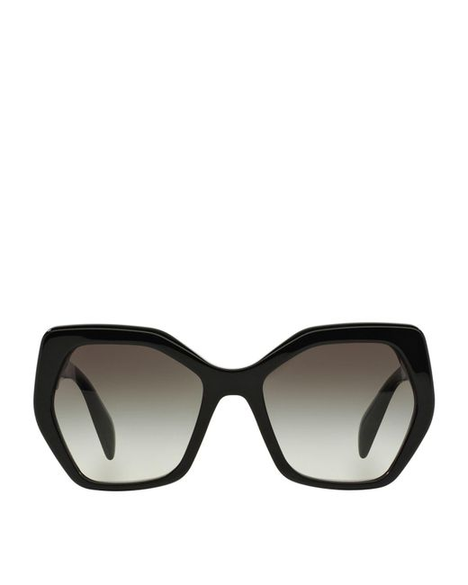 Prada | Black Irregular Sunglasses | Lyst