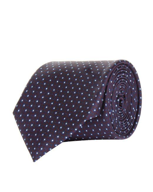 Corneliani | Red Square Print Tie for Men | Lyst