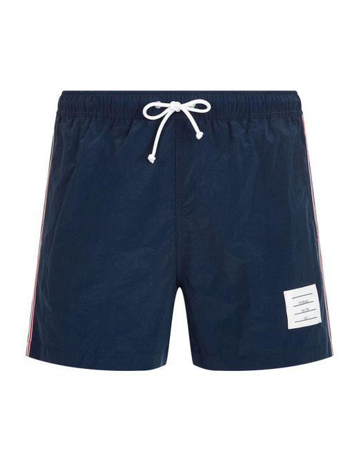 Thom Browne - Blue Classic Swim Trunks for Men - Lyst