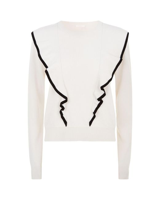 Chloé | White Double Front Cashmere Sweater | Lyst