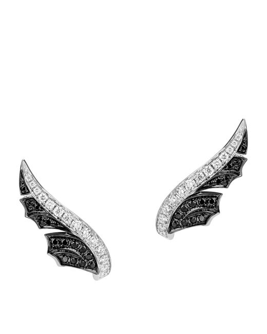 Stephen Webster - Metallic White Gold And Pav Diamond Magnipheasant Stud Earrings - Lyst