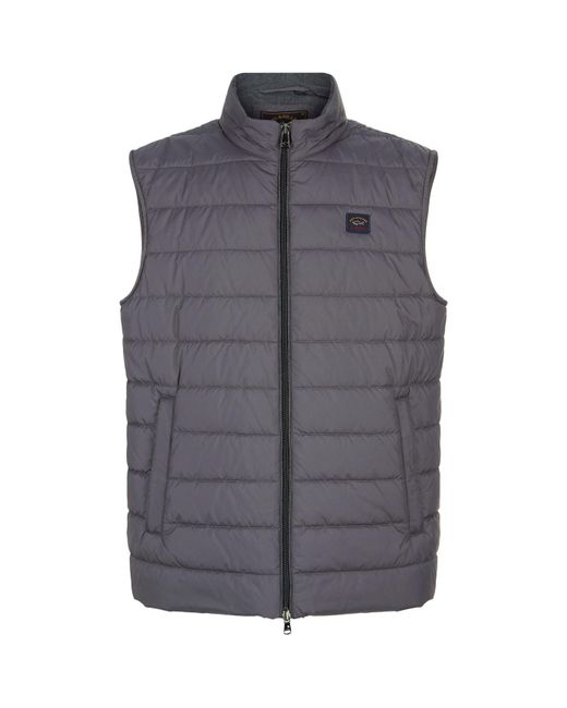 Paul & Shark | Gray Quilted Down Gillet for Men | Lyst