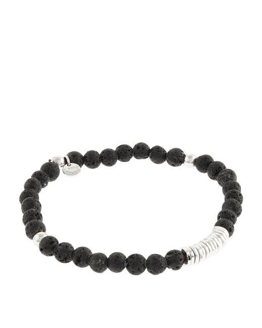 Tateossian - Black Disk Round Beaded Bracelet for Men - Lyst