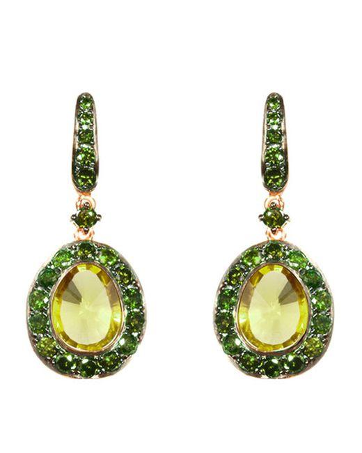 Annoushka - Metallic Dusty Diamonds Olive Quartz Earrings - Lyst