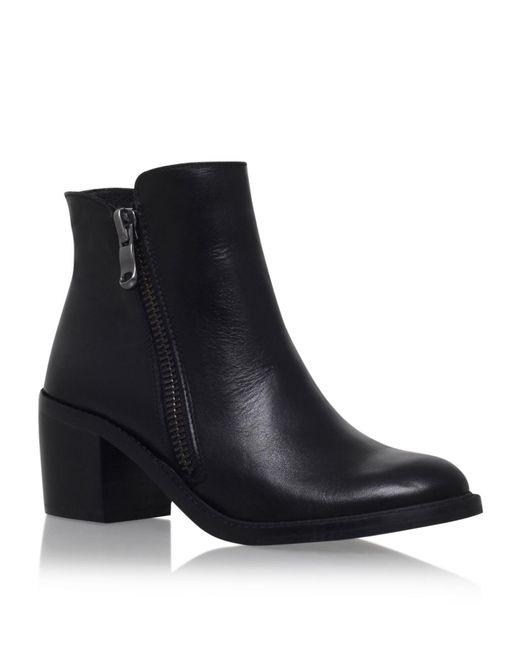 Carvela Kurt Geiger | Black Skim Leather Ankle Boots | Lyst