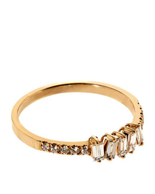 Suzanne Kalan   Baguette White Diamond Ring   Lyst