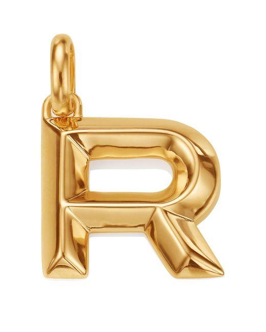 Monica Vinader   Metallic Gold Capital R Pendant   Lyst