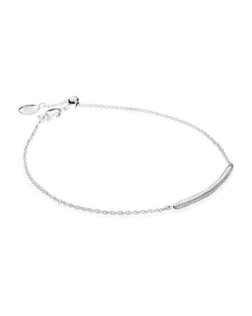 Monica Vinader | Metallic Linear Rose Gold Vermeil Diamond Bracelet | Lyst