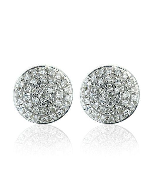Monica Vinader   Metallic Silver Ava Button Studs   Lyst
