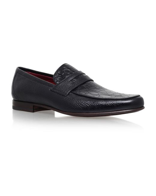 Stemar | Black Crocodile Penny Loafers for Men | Lyst