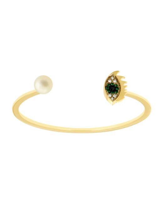 Delfina Delettrez | Green Eyes On Me Emerald Bracelet | Lyst