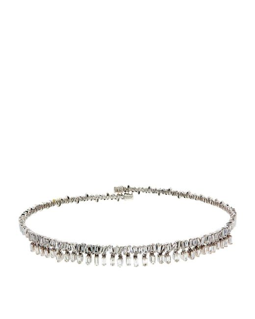 Suzanne Kalan | Firework White Diamond Choker | Lyst