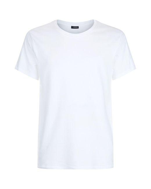 J.Lindeberg   White Ribbed Trim T-shirt for Men   Lyst