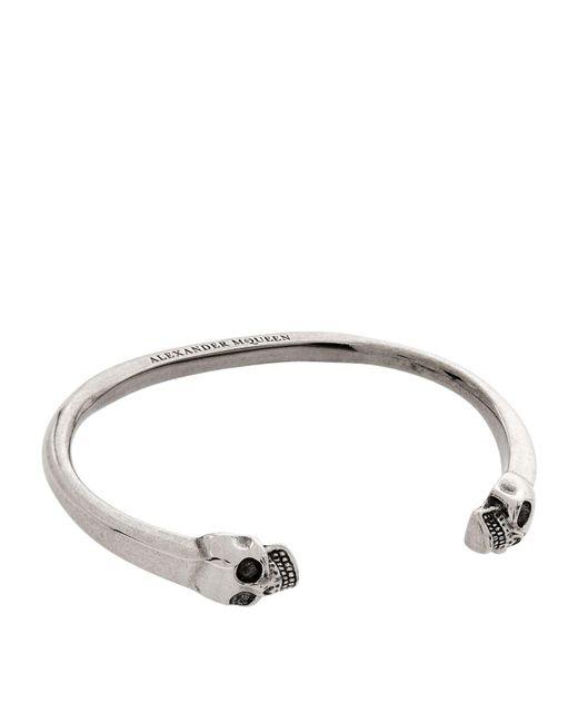 Alexander McQueen | Black Twin Skull Bracelet | Lyst