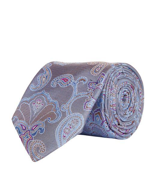 Eton of Sweden | Gray Large Paisley Tie for Men | Lyst
