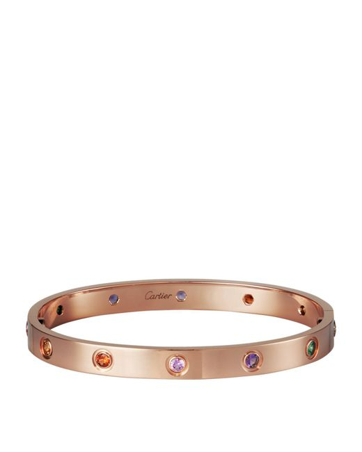 Cartier - Metallic Pink Gold Sapphire And Garnet And Amethyst Love Bracelet - Lyst