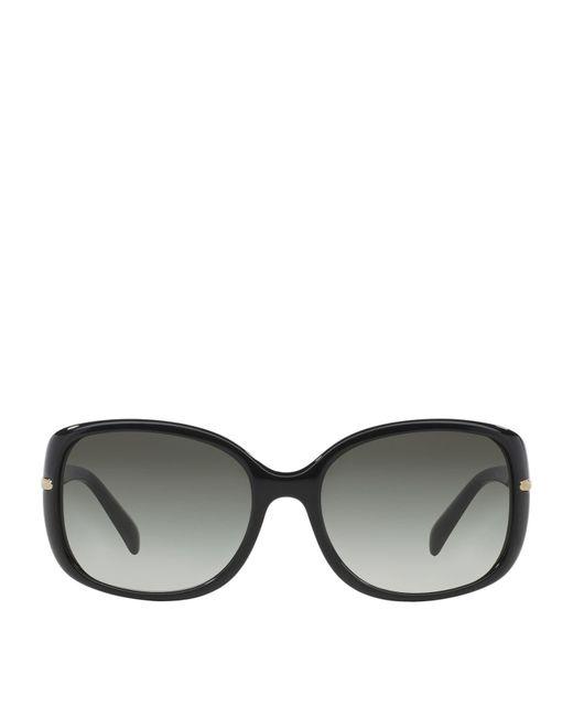 87ca25a0a9ef7 Lyst - Prada Rectangle Sunglasses in Black
