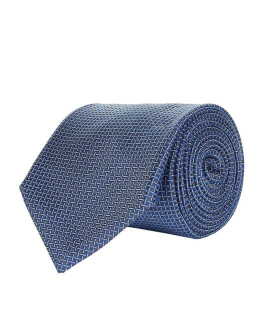 Corneliani | Blue Diagonal Stitch Tie for Men | Lyst