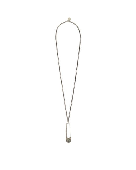 Alexander McQueen | Gray Oversized Safety Pin Necklace | Lyst