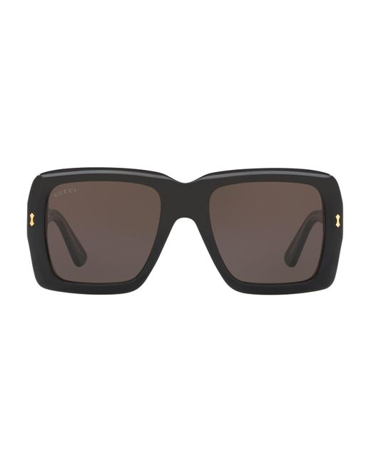 Gucci Black Oversized Square Sunglasses