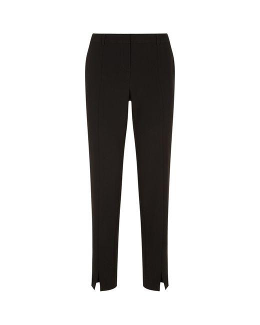 St. John - Black Jennifer Crepe Trousers - Lyst