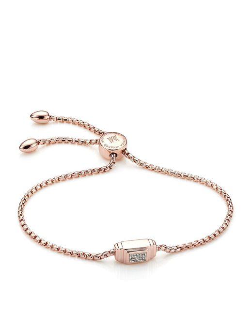 Monica Vinader - Metallic Baja Deco Diamond Bracelet - Lyst