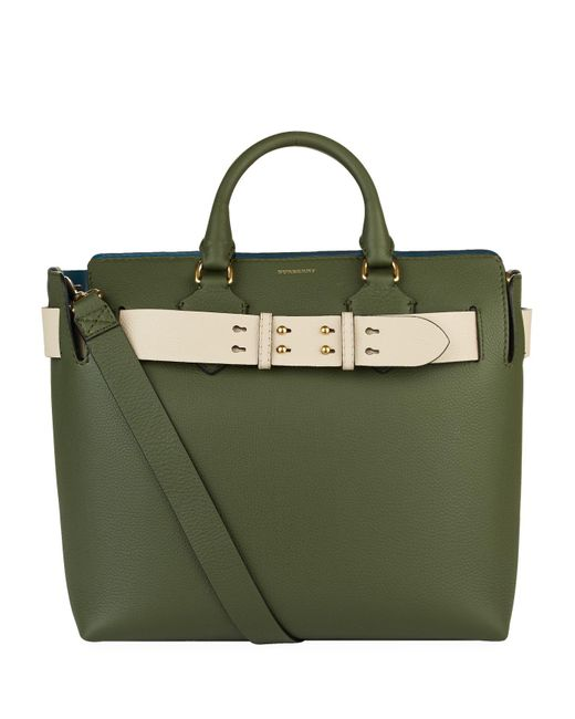 2694205f4de4 Burberry The Medium Leather Belt Bag in Green - Lyst