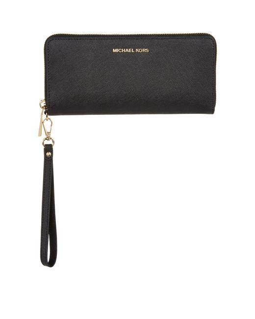 98b6a330a403 MICHAEL Michael Kors - Black Leather Money Pieces Continental Wallet - Lyst