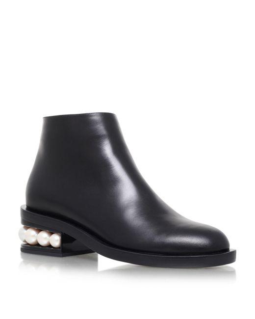 Nicholas Kirkwood - Black Casati Pearl Heel Ankle Boots - Lyst