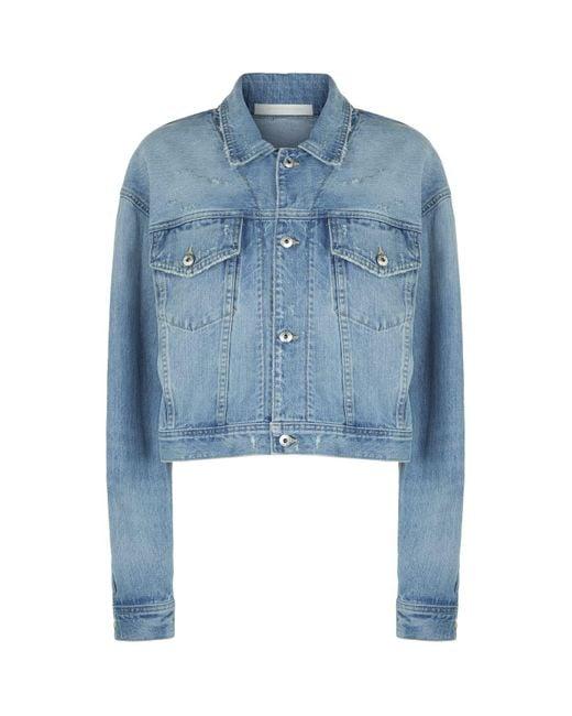 Jonathan Simkhai - Blue Button Down Denim Jacket - Lyst