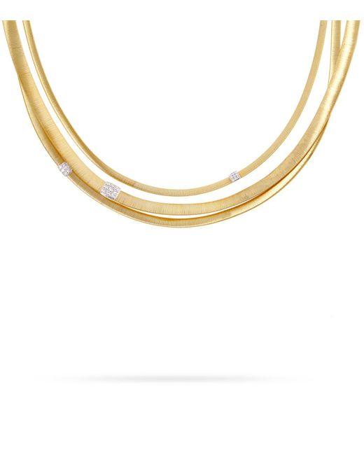 Marco Bicego - White Masai 3-strand Diamond Necklace - Lyst