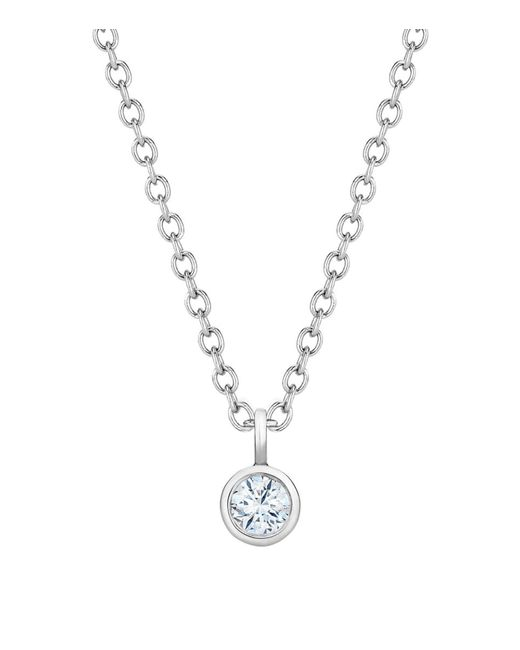 De Beers | Metallic White Gold And Diamond Dewdrop Necklace | Lyst