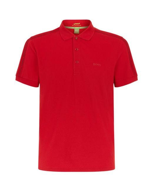BOSS Green   Red Paule Polo Shirt for Men   Lyst