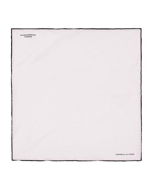 Turnbull & Asser - White Silk Poplin Handkerchief for Men - Lyst
