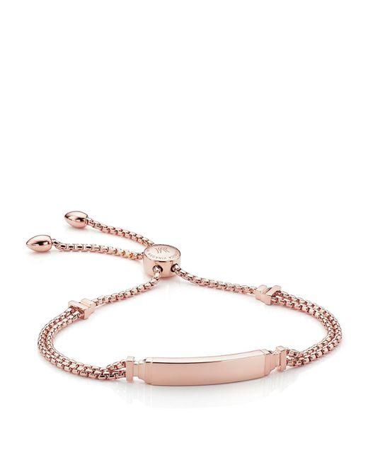 Monica Vinader - Metallic Baja Deco Id Bracelet, Gold - Lyst