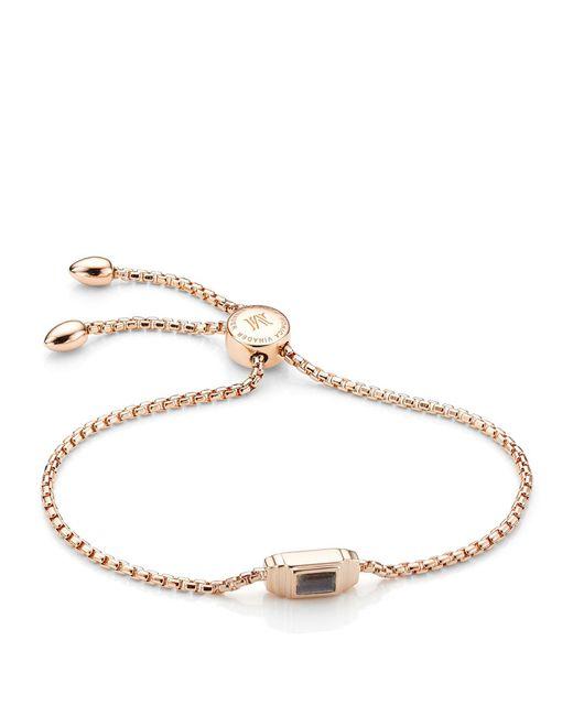 Monica Vinader - Metallic Baja Deco Labradorite Bracelet - Lyst