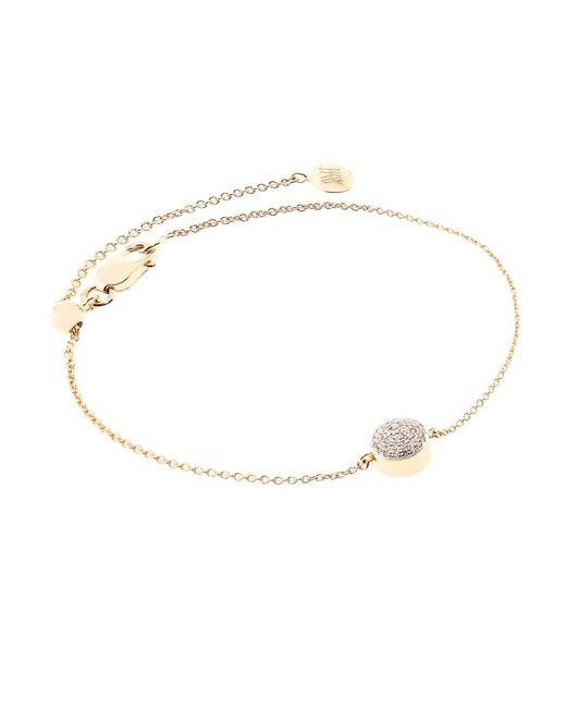 Monica Vinader - Metallic Ava Diamond Button Bracelet - Lyst