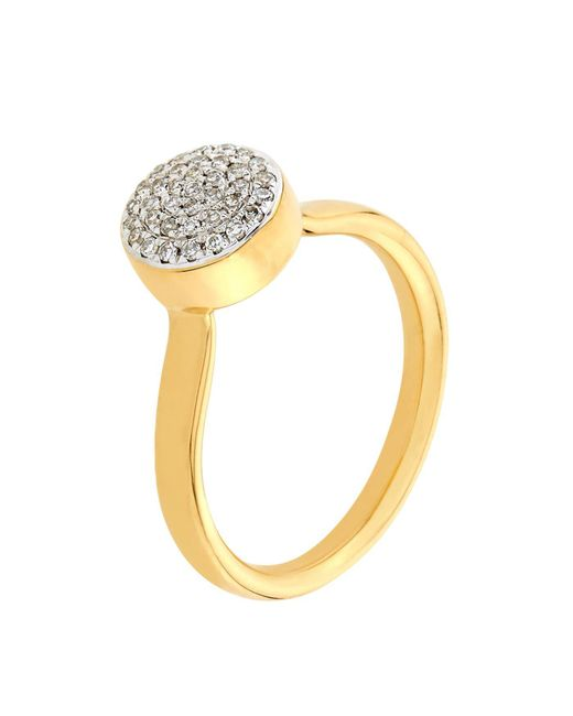 Monica Vinader - Metallic Ava Diamond Button Ring - Lyst