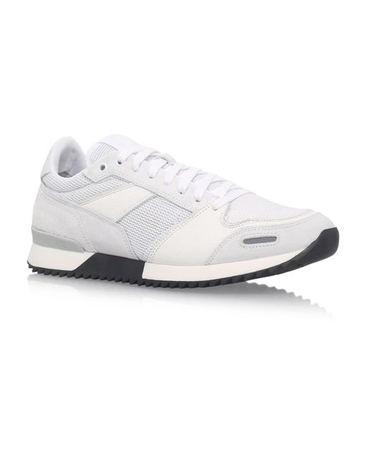 AMI - White Heel Logo Runner Trainers for Men - Lyst