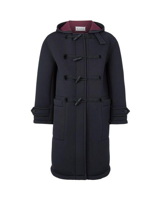 Maison Margiela Black Scuba Duffle Coat for men