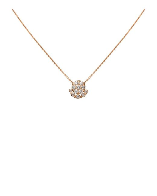 Cartier - Metallic Pink Gold And Diamond Tincelle De Necklace - Lyst